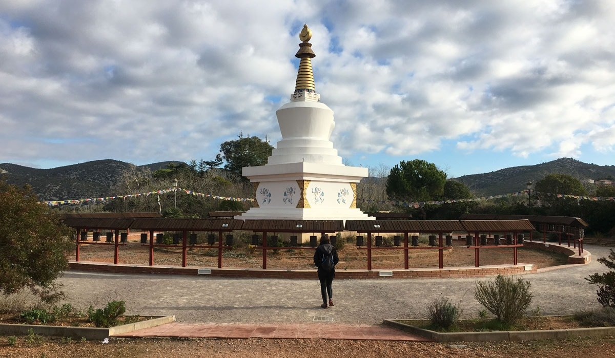 Stupa del Monestir budista del Garraf