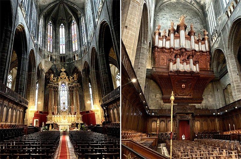 Interior de la Catedralde Sant Just i Sant Pastor, Narbona