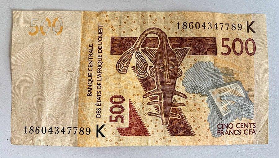 Bitllet de 500 francs CFA