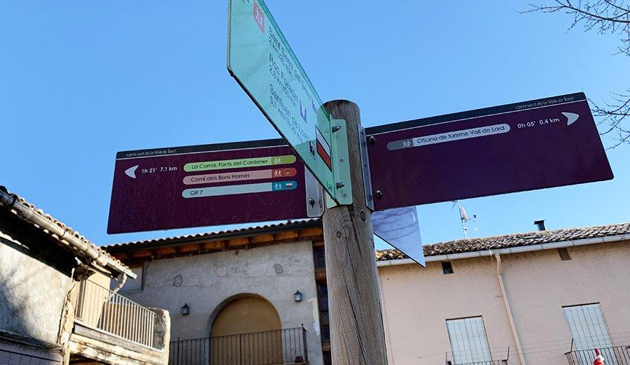 Inici de la Ruta de les Fonts del Cardener, Sant Llorenç de Morunys