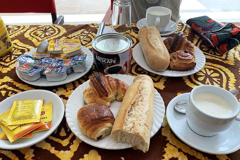 Esmorzar de Le Firdou Hotel, Kolda