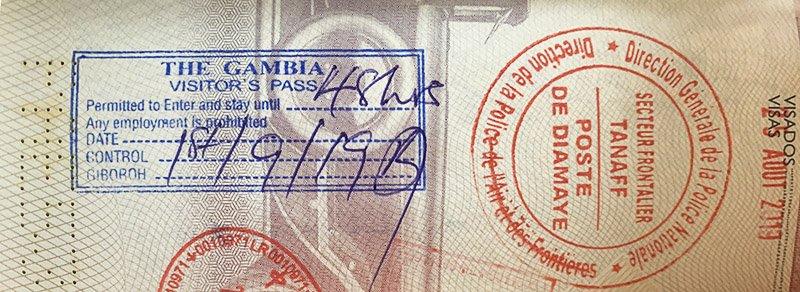 Com tramitar el visat per entrar a Gàmbia
